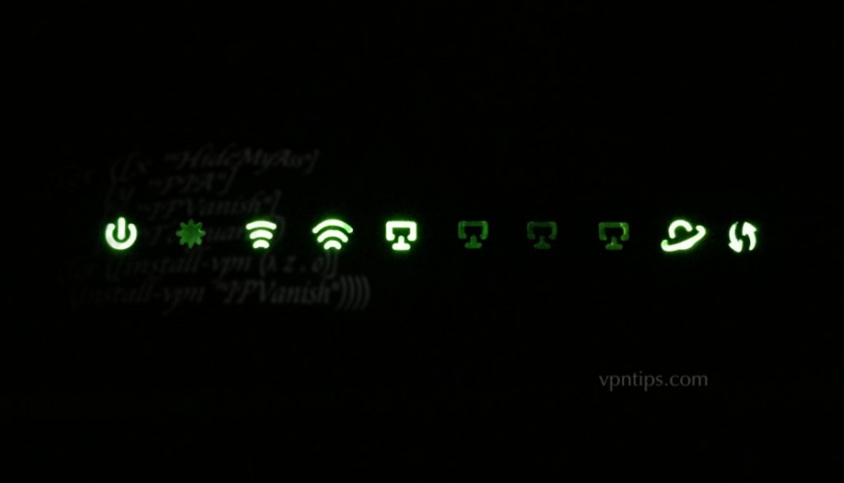 router with green lights