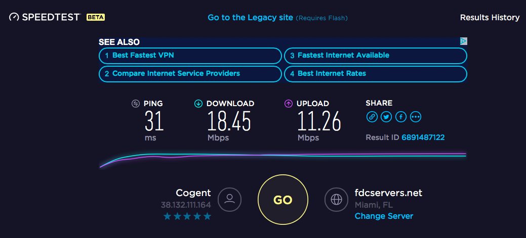 SpeedTestNordVPN