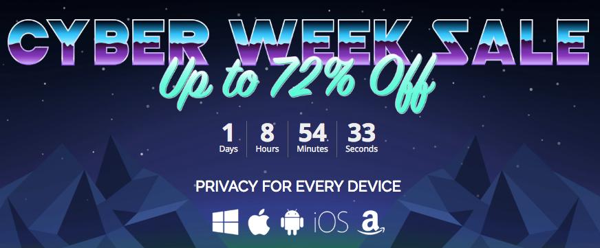 IpVanish Cyber week deal
